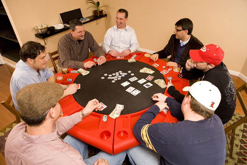 Hi Res Shots of the Lucky 7 Poker Table by Granger Plastics