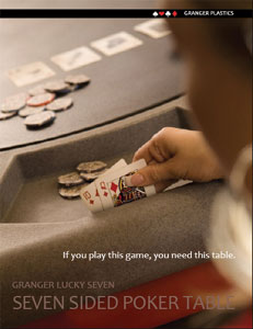Poker Table Literature, Lucky 7 Literature, Granger Poker Table Literature